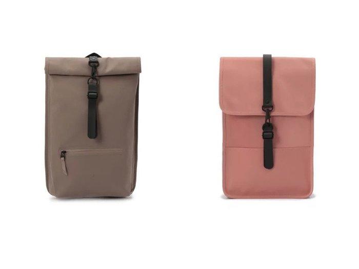 【RAINS/レインズ】のRoll Top Rucksack Backpack&Backpack Mini 【バッグ・鞄】おすすめ!人気、トレンド・レディースファッションの通販 おすすめファッション通販アイテム インテリア・キッズ・メンズ・レディースファッション・服の通販 founy(ファニー) https://founy.com/ ファッション Fashion レディースファッション WOMEN バッグ Bag コンパクト スリム フォルム フラップ マグネット フロント メッシュ |ID:crp329100000029216