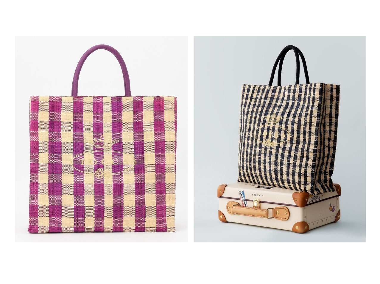 【TOCCA/トッカ】のVIVID MARCHE L トートバッグL 【バッグ・鞄】おすすめ!人気、トレンド・レディースファッションの通販 おすすめで人気の流行・トレンド、ファッションの通販商品 メンズファッション・キッズファッション・インテリア・家具・レディースファッション・服の通販 founy(ファニー) https://founy.com/ ファッション Fashion レディースファッション WOMEN バッグ Bag ギンガム チェック ラフィア リュクス リラックス ワンポイント 2021年 2021 S/S・春夏 SS・Spring/Summer 2021春夏・S/S SS/Spring/Summer/2021 送料無料 Free Shipping  ID:crp329100000029239