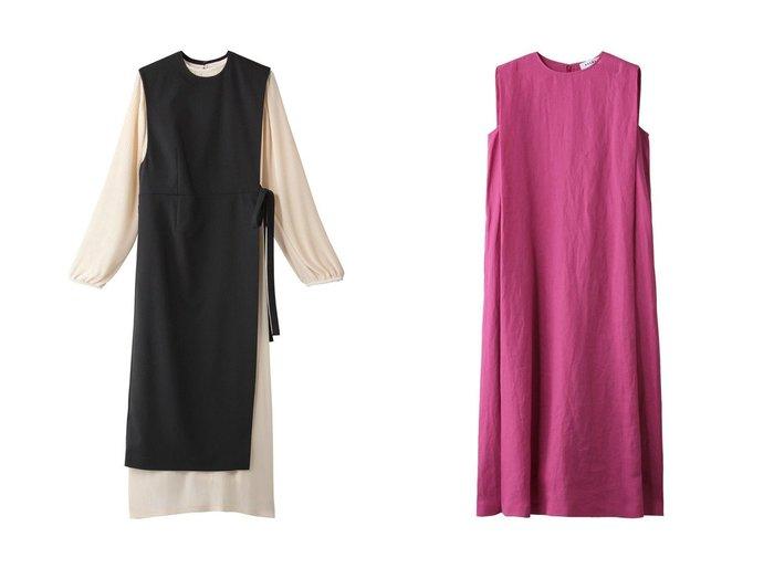 【CLANE/クラネ】のワンピース&【SACRA/サクラ】のリネンフォールデッドラインワンピース 【ワンピース・ドレス】おすすめ!人気、トレンド・レディースファッションの通販 おすすめファッション通販アイテム レディースファッション・服の通販 founy(ファニー) ファッション Fashion レディースファッション WOMEN ワンピース Dress ショルダー ノースリーブ リネン ロング |ID:crp329100000029320