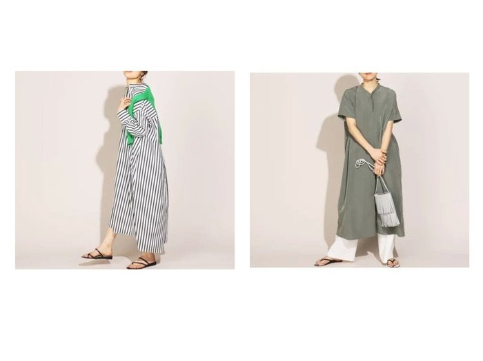 【NOLLEY'S/ノーリーズ】のヴィンテージファイユボリュームワンピース&【WEB限定】ストライプシャツワンピース 【ワンピース・ドレス】おすすめ!人気、トレンド・レディースファッションの通販 おすすめファッション通販アイテム レディースファッション・服の通販 founy(ファニー) ファッション Fashion レディースファッション WOMEN ワンピース Dress シャツワンピース Shirt Dresses インナー マキシ 半袖 長袖  ID:crp329100000029338