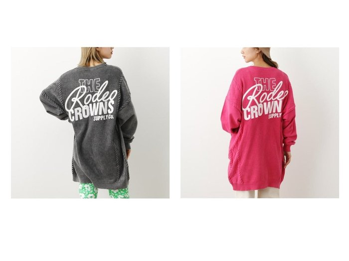 【RODEO CROWNS WIDE BOWL/ロデオクラウンズワイドボウル】のドッキング加工ニットワンピース 【ワンピース・ドレス】おすすめ!人気、トレンド・レディースファッションの通販 おすすめファッション通販アイテム レディースファッション・服の通販 founy(ファニー) ファッション Fashion レディースファッション WOMEN ワンピース Dress ニットワンピース Knit Dresses グラフィック ドッキング |ID:crp329100000029367