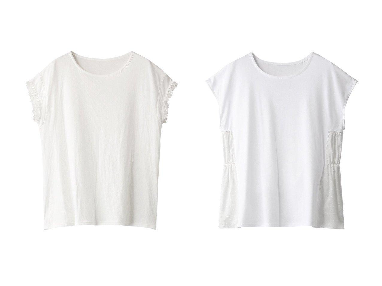 【nanadecor/ナナデコール】のリラックスコットンフリルトップス&スノードットTシャツ 【トップス・カットソー】おすすめ!人気、トレンド・レディースファッションの通販 おすすめで人気の流行・トレンド、ファッションの通販商品 メンズファッション・キッズファッション・インテリア・家具・レディースファッション・服の通販 founy(ファニー) https://founy.com/ ファッション Fashion レディースファッション WOMEN トップス・カットソー Tops/Tshirt シャツ/ブラウス Shirts/Blouses ロング / Tシャツ T-Shirts カットソー Cut and Sewn ギャザー ショート スリーブ ドット おすすめ Recommend シンプル セットアップ フリル レース |ID:crp329100000029381