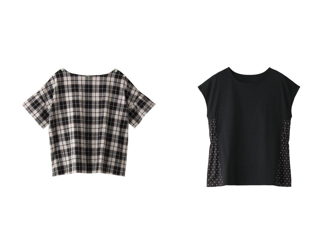【nanadecor/ナナデコール】のシナモンチェックトップス&スノードットTシャツ 【トップス・カットソー】おすすめ!人気、トレンド・レディースファッションの通販 おすすめで人気の流行・トレンド、ファッションの通販商品 メンズファッション・キッズファッション・インテリア・家具・レディースファッション・服の通販 founy(ファニー) https://founy.com/ ファッション Fashion レディースファッション WOMEN トップス・カットソー Tops/Tshirt シャツ/ブラウス Shirts/Blouses ロング / Tシャツ T-Shirts カットソー Cut and Sewn ギャザー ショート スリーブ ドット セットアップ チェック ベーシック |ID:crp329100000029382