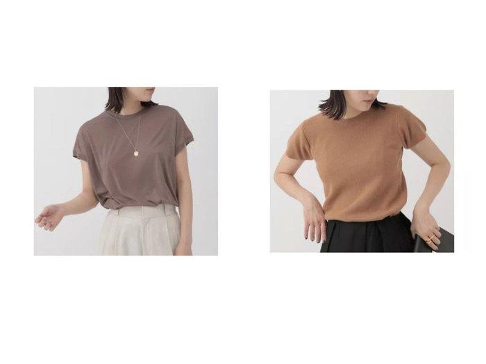 【Chaos/カオス】のシルクアームレットTシャツ&アロングコンフォートT 【トップス・カットソー】おすすめ!人気、トレンド・レディースファッションの通販 おすすめファッション通販アイテム レディースファッション・服の通販 founy(ファニー) ファッション Fashion レディースファッション WOMEN トップス・カットソー Tops/Tshirt シャツ/ブラウス Shirts/Blouses ロング / Tシャツ T-Shirts カットソー Cut and Sewn カシミア カットソー 半袖 |ID:crp329100000029399
