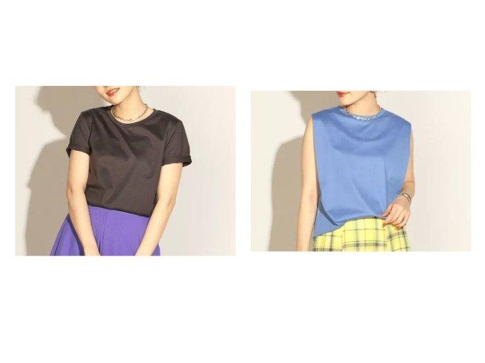 【NOLLEY'S/ノーリーズ】の28G天竺ベーシックTシャツ&28G天竺ノースリーブカットソー 【トップス・カットソー】おすすめ!人気、トレンド・レディースファッションの通販 おすすめファッション通販アイテム レディースファッション・服の通販 founy(ファニー) ファッション Fashion レディースファッション WOMEN トップス・カットソー Tops/Tshirt キャミソール / ノースリーブ No Sleeves シャツ/ブラウス Shirts/Blouses ロング / Tシャツ T-Shirts カットソー Cut and Sewn カットソー ノースリーブ シンプル ベーシック 半袖 無地 |ID:crp329100000029419
