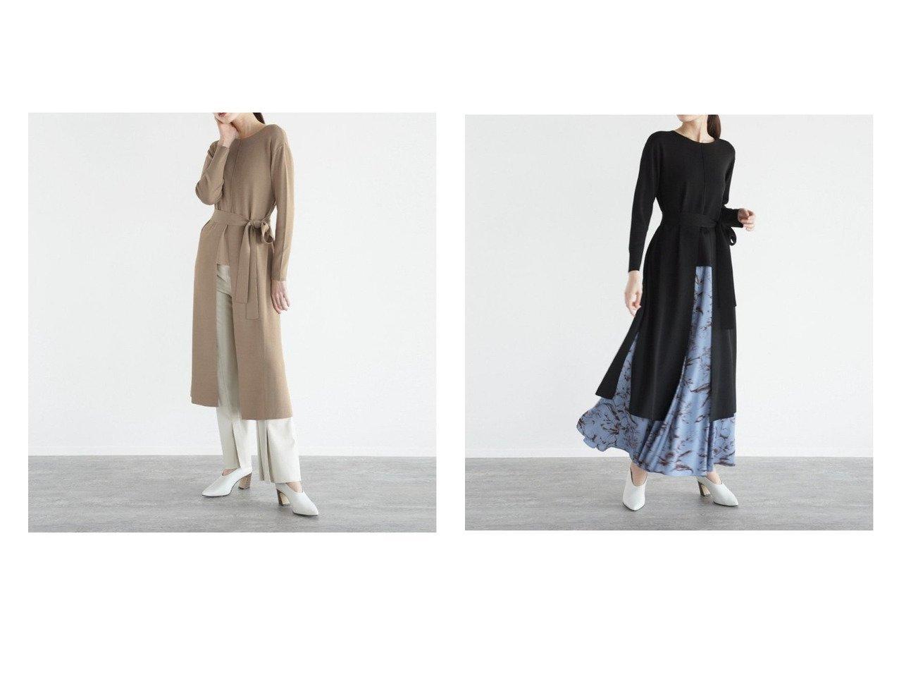 【LASUD/ラシュッド】のロングスリットニット 【トップス・カットソー】おすすめ!人気、トレンド・レディースファッションの通販 おすすめで人気の流行・トレンド、ファッションの通販商品 メンズファッション・キッズファッション・インテリア・家具・レディースファッション・服の通販 founy(ファニー) https://founy.com/ ファッション Fashion レディースファッション WOMEN トップス・カットソー Tops/Tshirt ニット Knit Tops スリット フロント ボトム ロング 長袖  ID:crp329100000029428