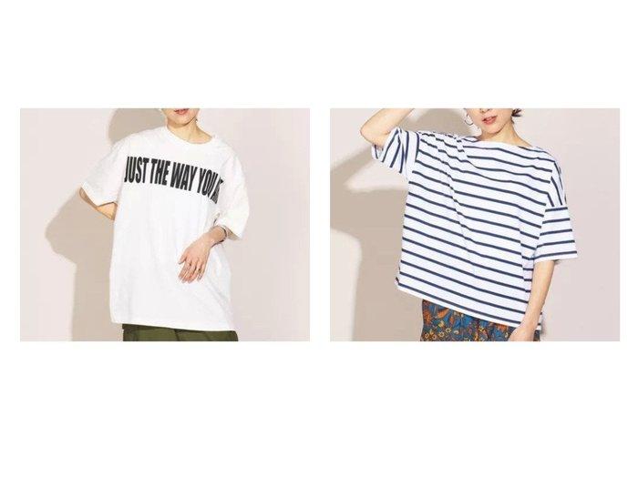 【NOLLEY'S/ノーリーズ】の肩落ちボリュームTシャツ&【Rie Miller/リエミラー】のオーガニックコットンビックTシャツ 【トップス・カットソー】おすすめ!人気、トレンド・レディースファッションの通販 おすすめファッション通販アイテム レディースファッション・服の通販 founy(ファニー) ファッション Fashion レディースファッション WOMEN トップス・カットソー Tops/Tshirt シャツ/ブラウス Shirts/Blouses ロング / Tシャツ T-Shirts カットソー Cut and Sewn おすすめ Recommend お家時間・ステイホーム Home Time/Stay Home インナー カットソー キャミワンピース リラックス 人気 半袖 |ID:crp329100000029462
