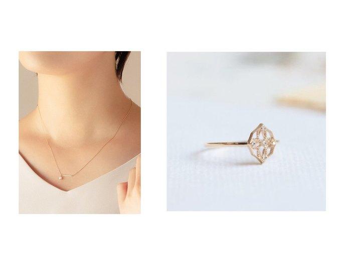 【phoebe/フィービィー】の【K10】Yマルチwayパールネックレス&【cui-cui/キュイキュイ】のK10YG 世界最小ダイヤモンドリング おすすめ!人気、トレンド・レディースファッションの通販 おすすめ人気トレンドファッション通販アイテム 人気、トレンドファッション・服の通販 founy(ファニー)  ファッション Fashion レディースファッション WOMEN ジュエリー Jewelry ネックレス Necklaces アクセサリー アンティーク ダイヤモンド 透かし おすすめ Recommend チェーン ネックレス パール |ID:crp329100000029539