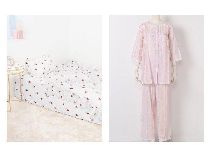 【KID BLUE/キッドブルー】の20シャーリングストライプ&【gelato pique/ジェラート ピケ】の【Sleep】(シングル)ストロベリーモチーフ3点SET おすすめ!人気、トレンド・レディースファッションの通販 おすすめファッション通販アイテム レディースファッション・服の通販 founy(ファニー) ファッション Fashion レディースファッション WOMEN セットアップ Setup おすすめ Recommend インナー シャーリング スクエア ストライプ パジャマ フリル ボトム NEW・新作・新着・新入荷 New Arrivals グラデーション ボックス モチーフ 人気 |ID:crp329100000029549