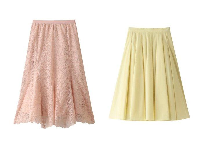 【ANAYI/アナイ】のチュールリーフレースセミフレアスカート&ストレッチツイルフレアスカート 【スカート】おすすめ!人気、トレンド・レディースファッションの通販 おすすめファッション通販アイテム レディースファッション・服の通販 founy(ファニー) ファッション Fashion レディースファッション WOMEN スカート Skirt Aライン/フレアスカート Flared A-Line Skirts シンプル フレア おすすめ Recommend セットアップ パーティ ロング  ID:crp329100000029600
