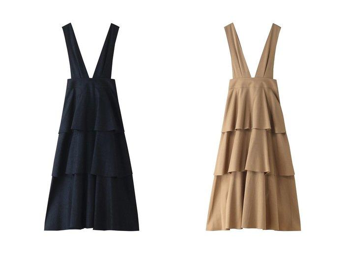 【allureville/アルアバイル】の【Loulou Willoughby】デニムティアードサロペットスカート 【スカート】おすすめ!人気、トレンド・レディースファッションの通販 おすすめファッション通販アイテム レディースファッション・服の通販 founy(ファニー) ファッション Fashion レディースファッション WOMEN スカート Skirt ラップ  ID:crp329100000029601