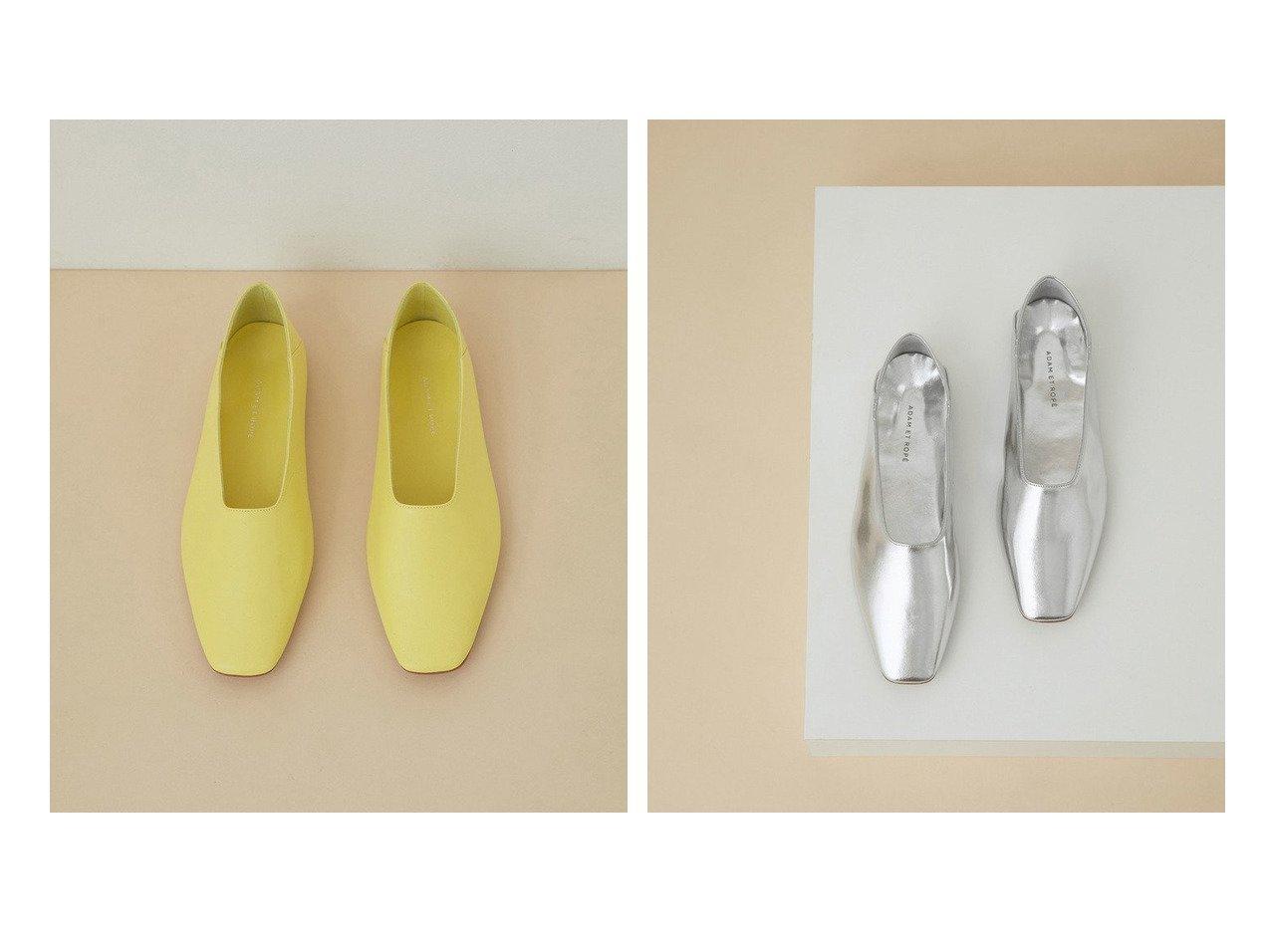 【ADAM ET ROPE'/アダム エ ロペ】のソフトレザーフラット 【シューズ・靴】おすすめ!人気トレンド・レディースファッションの通販  おすすめで人気の流行・トレンド、ファッションの通販商品 メンズファッション・キッズファッション・インテリア・家具・レディースファッション・服の通販 founy(ファニー) https://founy.com/ ファッション Fashion レディースファッション WOMEN 2021年 2021 2021春夏・S/S SS/Spring/Summer/2021 S/S・春夏 SS・Spring/Summer おすすめ Recommend イエロー シューズ シルバー フラット リラックス 再入荷 Restock/Back in Stock/Re Arrival 春 Spring |ID:crp329100000029614