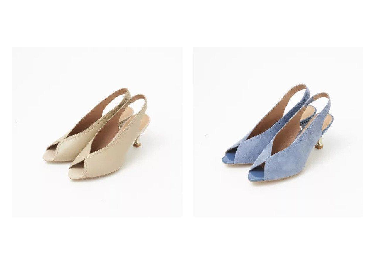 【Piche Abahouse/ピシェ アバハウス】のメタルヒールスリングバック 【シューズ・靴】おすすめ!人気トレンド・レディースファッションの通販  おすすめで人気の流行・トレンド、ファッションの通販商品 メンズファッション・キッズファッション・インテリア・家具・レディースファッション・服の通販 founy(ファニー) https://founy.com/ ファッション Fashion レディースファッション WOMEN バッグ Bag オープントゥ シューズ メタル ラップ |ID:crp329100000029621