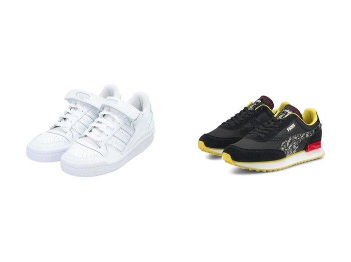 【PUMA/プーマ】のPUMA x PEANUTS フューチャー ライダー ユニセックス スニーカー&【adidas Originals/アディダス オリジナルス】のフォーラム ロー Forum Low アディダスオリジナルス 【シューズ・靴】おすすめ!人気トレンド・レディースファッションの通販  おすすめファッション通販アイテム レディースファッション・服の通販 founy(ファニー) ファッション Fashion レディースファッション WOMEN アクセサリー 春 Spring キャラクター クラシック グラフィック コレクション シューズ スニーカー スポーティ スリッポン 2021年 2021 S/S・春夏 SS・Spring/Summer 2021春夏・S/S SS/Spring/Summer/2021 NEW・新作・新着・新入荷 New Arrivals スポーツ ミックス ラップ レース 人気 |ID:crp329100000029628