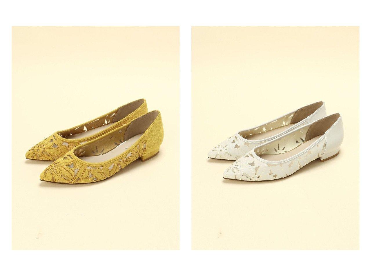 【Le Talon/ル タロン】の2.5cmフラワーカットワークFT(22-25) 【シューズ・靴】おすすめ!人気トレンド・レディースファッションの通販  おすすめで人気の流行・トレンド、ファッションの通販商品 メンズファッション・キッズファッション・インテリア・家具・レディースファッション・服の通販 founy(ファニー) https://founy.com/ ファッション Fashion レディースファッション WOMEN 2020年 2020 2020春夏・S/S SS・Spring/Summer/2020 S/S・春夏 SS・Spring/Summer インソール クッション シューズ チュール フラット ワーク 春 Spring |ID:crp329100000029631