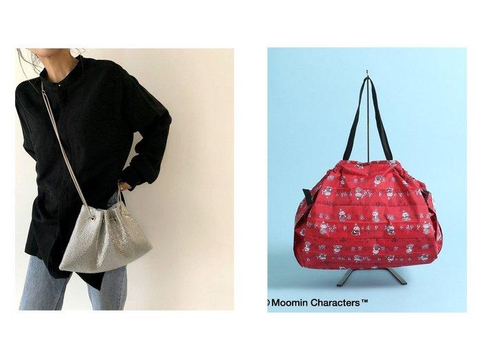【via j/ヴィアジェイ】のVia j (ヴィアジェイ) NEWメタル巾着BAG&【Afternoon Tea/アフタヌーンティー】のMoomin×ShupattoコンパクトバッグL 【バッグ・鞄】おすすめ!人気トレンド・レディースファッションの通販  おすすめファッション通販アイテム レディースファッション・服の通販 founy(ファニー) ファッション Fashion レディースファッション WOMEN バッグ Bag アクセサリー ショルダー ハンドバッグ ポケット メタル 人気 巾着 コンパクト プリント |ID:crp329100000029666