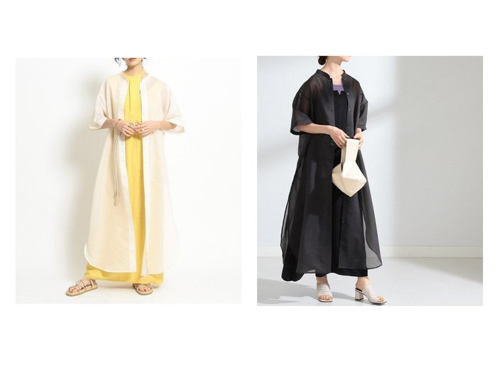 【Ray BEAMS/レイ ビームス】のオーガンジー シャツ ワンピース 【ワンピース・ドレス】おすすめ!人気トレンド・レディースファッションの通販  おすすめファッション通販アイテム インテリア・キッズ・メンズ・レディースファッション・服の通販 founy(ファニー) https://founy.com/ ファッション Fashion レディースファッション WOMEN ワンピース Dress シャツワンピース Shirt Dresses NEW・新作・新着・新入荷 New Arrivals おすすめ Recommend オーガンジー シアー 今季 羽織 |ID:crp329100000029719