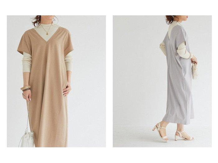 【Doux archives/ドゥ アルシーヴ】のセンターラインレイヤードOP+ニットセット 【ワンピース・ドレス】おすすめ!人気トレンド・レディースファッションの通販  おすすめファッション通販アイテム レディースファッション・服の通販 founy(ファニー) ファッション Fashion レディースファッション WOMEN ワンピース Dress ショルダー スリーブ フレンチ リブニット  ID:crp329100000029721