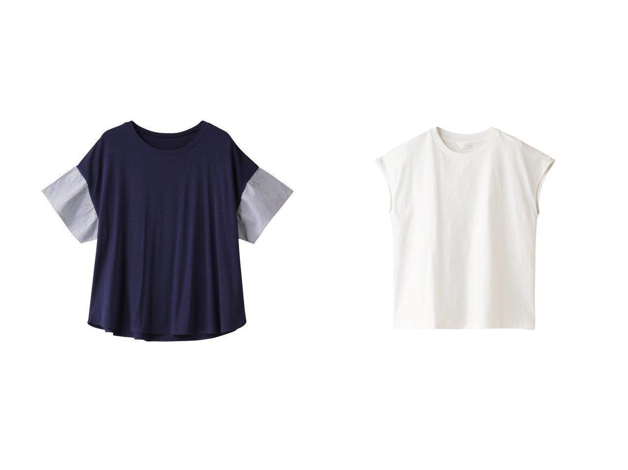 【KID BLUE/キッドブルー】の21レーヨンベア天トップ&21ベーシックTシャツトップ 【トップス・カットソー】おすすめ!人気トレンド・レディースファッションの通販  おすすめで人気の流行・トレンド、ファッションの通販商品 メンズファッション・キッズファッション・インテリア・家具・レディースファッション・服の通販 founy(ファニー) https://founy.com/ ファッション Fashion レディースファッション WOMEN トップス・カットソー Tops/Tshirt シャツ/ブラウス Shirts/Blouses ロング / Tシャツ T-Shirts カットソー Cut and Sewn ショート シンプル スリーブ ベーシック おすすめ Recommend とろみ ストライプ セットアップ |ID:crp329100000029732