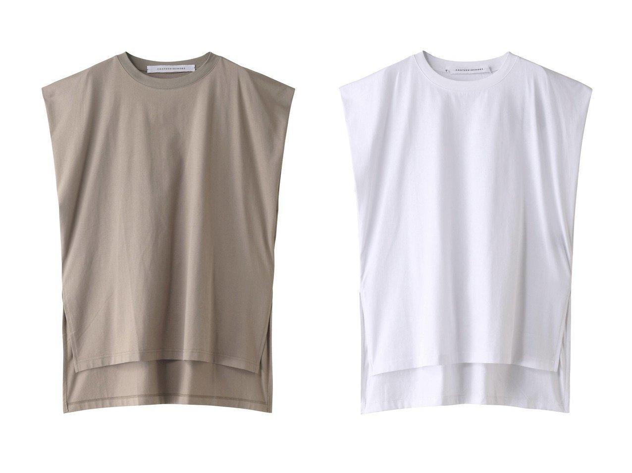 【martinique/マルティニーク】の【COGTHEBIGSMOKE】TUCK-IN Tシャツ 【トップス・カットソー】おすすめ!人気トレンド・レディースファッションの通販  おすすめで人気の流行・トレンド、ファッションの通販商品 メンズファッション・キッズファッション・インテリア・家具・レディースファッション・服の通販 founy(ファニー) https://founy.com/ ファッション Fashion レディースファッション WOMEN トップス・カットソー Tops/Tshirt シャツ/ブラウス Shirts/Blouses ロング / Tシャツ T-Shirts カットソー Cut and Sewn ショート シンプル スリット スリーブ ビッグ ベーシック |ID:crp329100000029754