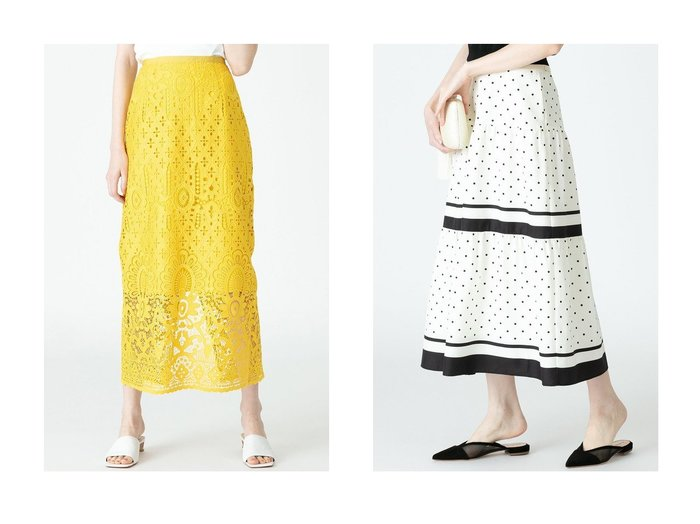 【allureville/アルアバイル】の【LOULOU WILLOUGHBY】DOTSティアードスカート&【LOULOU WILLOUGHBY】パネルレースロングスカート 【スカート】おすすめ!人気、トレンド・レディースファッションの通販 おすすめファッション通販アイテム レディースファッション・服の通販 founy(ファニー) ファッション Fashion レディースファッション WOMEN スカート Skirt ロングスカート Long Skirt ティアードスカート Tiered Skirts アンティーク スリット ダウン マキシ レース ロング |ID:crp329100000029829