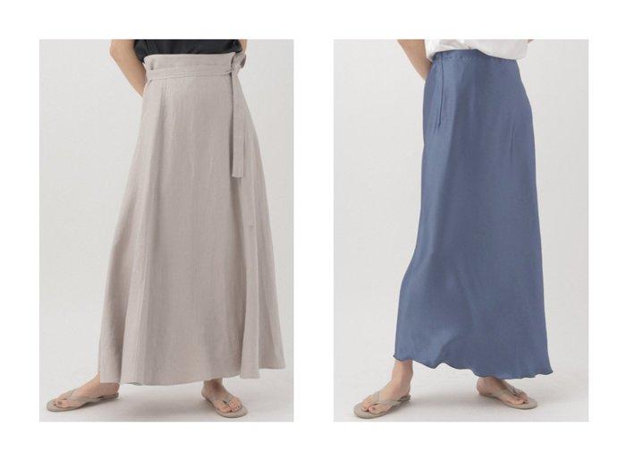 【Chaos/カオス】のヘリンボンリネンロングスカート&リベールサテンロングスカート 【スカート】おすすめ!人気、トレンド・レディースファッションの通販 おすすめファッション通販アイテム レディースファッション・服の通販 founy(ファニー) ファッション Fashion レディースファッション WOMEN スカート Skirt ロングスカート Long Skirt フレア フレンチ ヘリンボーン リネン リボン ロング |ID:crp329100000029830