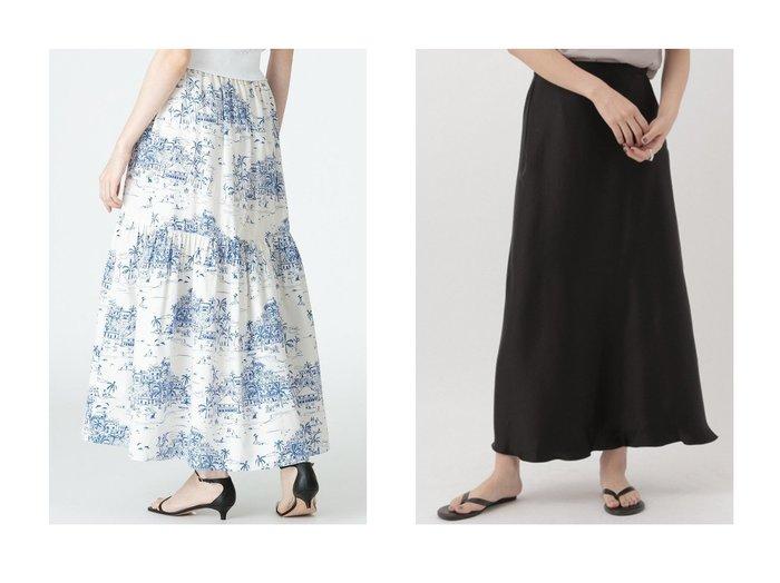 【Chaos/カオス】のリベールサテンロングスカート&【allureville/アルアバイル】の【LOULOU WILLOUGHBY】ドローイングプリントティアードスカート 【スカート】おすすめ!人気、トレンド・レディースファッションの通販 おすすめファッション通販アイテム レディースファッション・服の通販 founy(ファニー) ファッション Fashion レディースファッション WOMEN スカート Skirt ティアードスカート Tiered Skirts ロングスカート Long Skirt おすすめ Recommend プリント マキシ ロング |ID:crp329100000029832