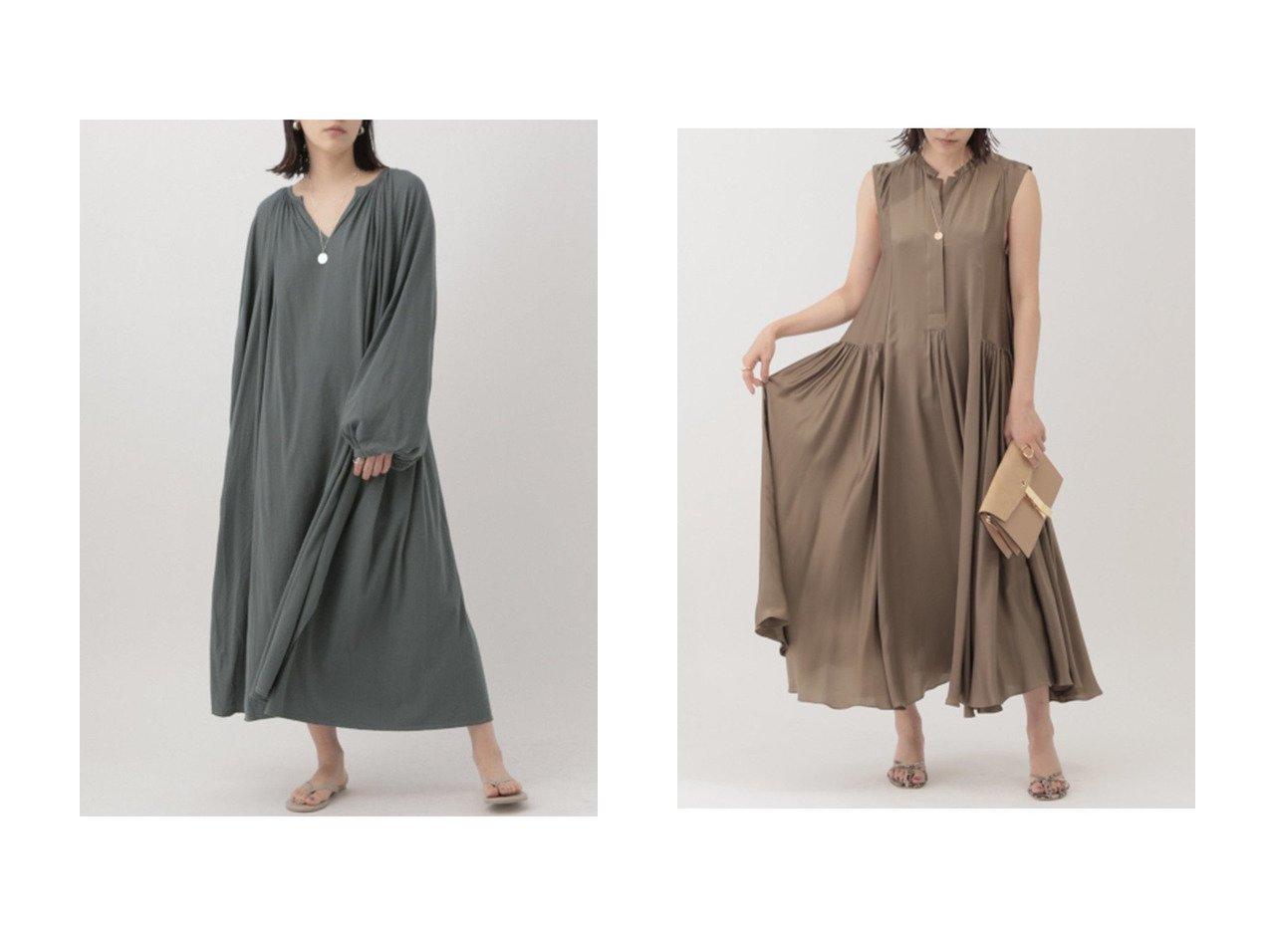 【Chaos/カオス】のルネギャザーカットマキシワンピース&サンディングシルクワンピース 【ワンピース・ドレス】おすすめ!人気、トレンド・レディースファッションの通販 おすすめで人気の流行・トレンド、ファッションの通販商品 メンズファッション・キッズファッション・インテリア・家具・レディースファッション・服の通販 founy(ファニー) https://founy.com/ ファッション Fashion レディースファッション WOMEN ワンピース Dress マキシワンピース Maxi Dress カットソー ロング |ID:crp329100000029849