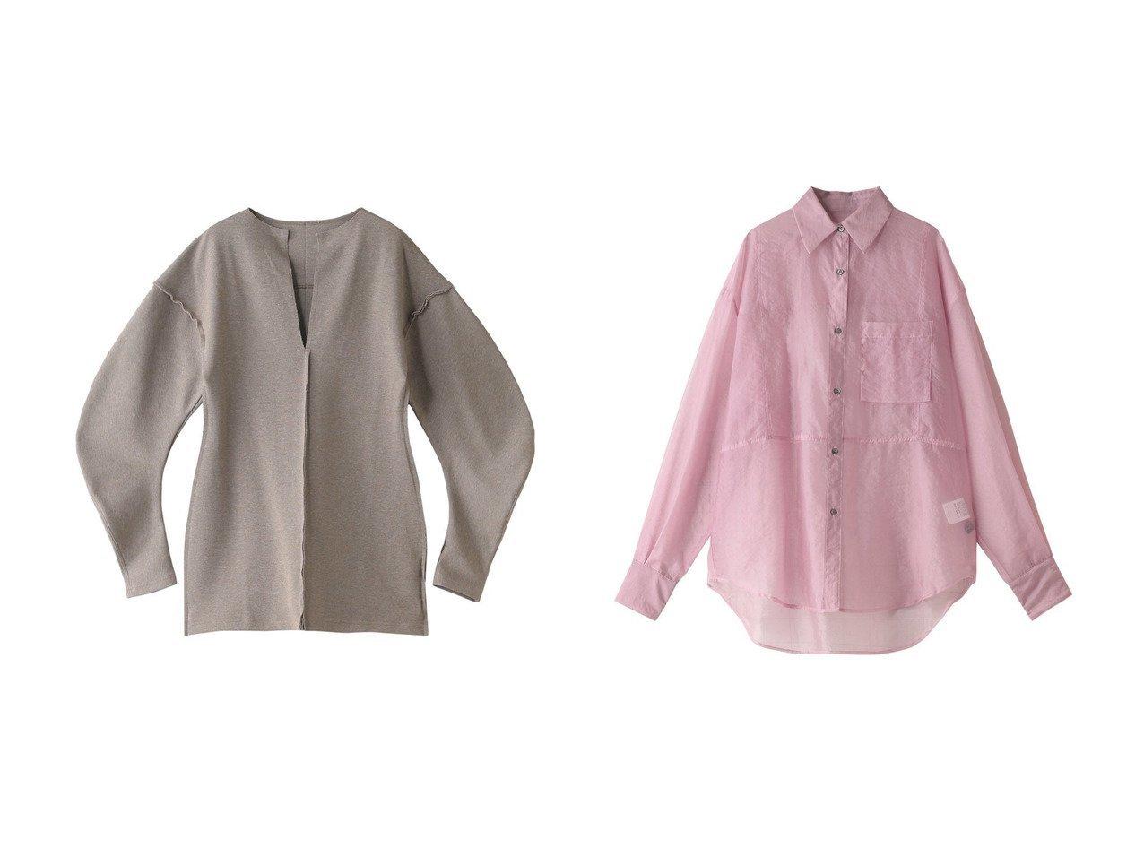 【MAISON SPECIAL/メゾンスペシャル】のオーバーシアーシャツ&コクーンスリーブダンボールトップス 【トップス・カットソー】おすすめ!人気、トレンド・レディースファッションの通販 おすすめで人気の流行・トレンド、ファッションの通販商品 メンズファッション・キッズファッション・インテリア・家具・レディースファッション・服の通販 founy(ファニー) https://founy.com/ ファッション Fashion レディースファッション WOMEN トップス・カットソー Tops/Tshirt シャツ/ブラウス Shirts/Blouses ロング / Tシャツ T-Shirts カットソー Cut and Sewn おすすめ Recommend シアー シンプル スリーブ トレンド ロング 今季 春 Spring 羽織 フェミニン フォルム |ID:crp329100000029866