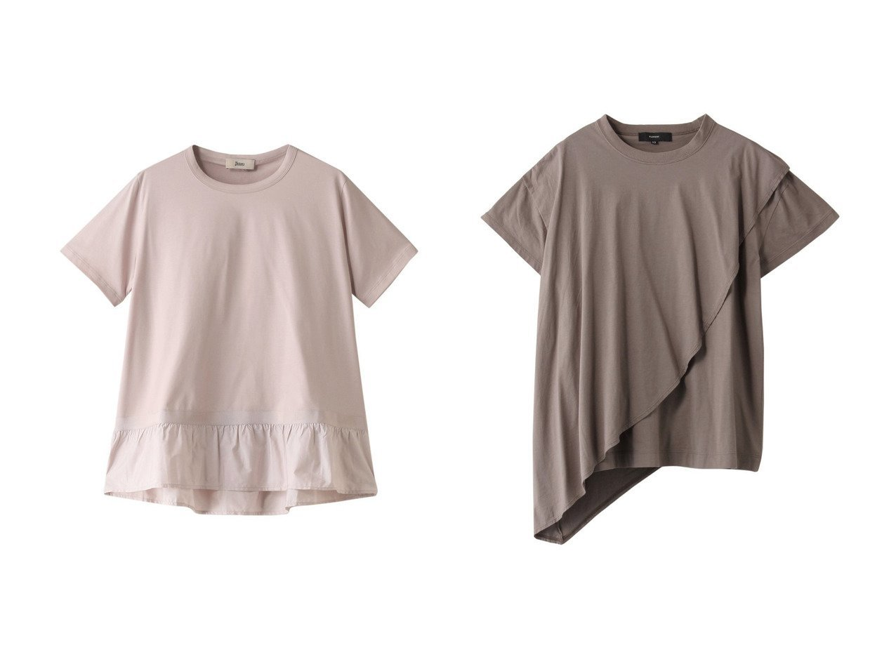 【HERNO/ヘルノ】のコットンジャージーテクノタフタコンビTシャツ&【FLORENT/フローレント】のCAラステック天竺Tシャツ 【トップス・カットソー】おすすめ!人気、トレンド・レディースファッションの通販 おすすめで人気の流行・トレンド、ファッションの通販商品 メンズファッション・キッズファッション・インテリア・家具・レディースファッション・服の通販 founy(ファニー) https://founy.com/ ファッション Fashion レディースファッション WOMEN トップス・カットソー Tops/Tshirt シャツ/ブラウス Shirts/Blouses ロング / Tシャツ T-Shirts カットソー Cut and Sewn ショート シンプル スリーブ フォーム プリーツ |ID:crp329100000029877