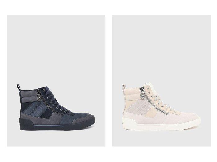【DIESEL / MEN/ディーゼル】のS-DVELOWS MID CUT 【MEN】おすすめ!人気トレンド・男性、メンズファッションの通販  おすすめファッション通販アイテム インテリア・キッズ・メンズ・レディースファッション・服の通販 founy(ファニー) https://founy.com/ ファッション Fashion メンズファッション MEN シューズ・靴 Shoes/Men スニーカー Sneakers サイドジップ シューズ スニーカー スポーティ スリッポン セットアップ リュクス 人気 定番 Standard |ID:crp329100000030104