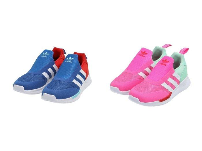 【adidas Originals / KIDS/アディダス オリジナルス】のZX 360 C 【KIDS】子供服のおすすめ!人気トレンド・キッズファッションの通販 おすすめ人気トレンドファッション通販アイテム 人気、トレンドファッション・服の通販 founy(ファニー)  ファッション Fashion キッズファッション KIDS シューズ スリッポン ランニング 再入荷 Restock/Back in Stock/Re Arrival |ID:crp329100000030161