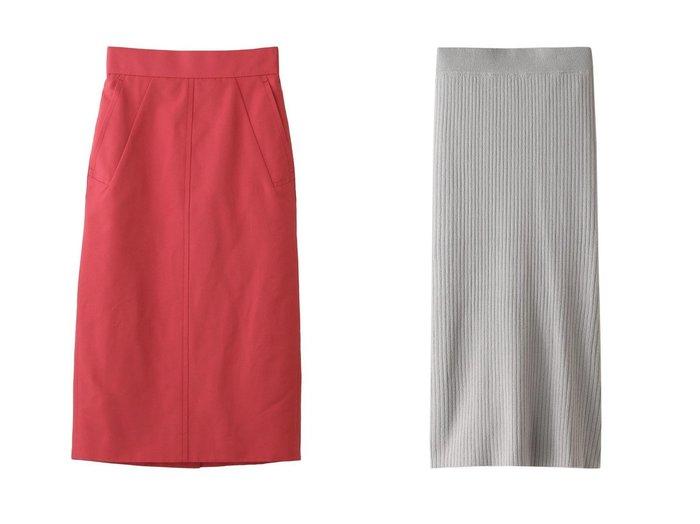 【Chaos/カオス】のCRシルクリブニットスカート&【DESIGN WORKS/デザイン ワークス】のグログランタイトスカート 【スカート】おすすめ!人気、トレンド・レディースファッションの通販 おすすめファッション通販アイテム レディースファッション・服の通販 founy(ファニー)  ファッション Fashion レディースファッション WOMEN スカート Skirt シンプル スリット タイトスカート おすすめ Recommend シルク ストライプ セットアップ タンク フィット |ID:crp329100000030187