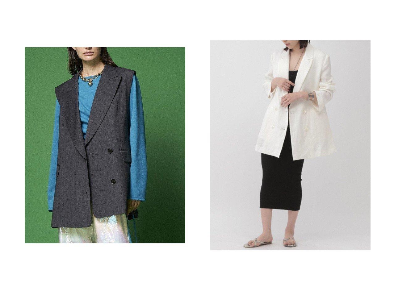 【MAISON SPECIAL/メゾンスペシャル】のバックオープンジレ&【Chaos/カオス】のオーガニックジャケット 【アウター】おすすめ!人気、トレンド・レディースファッションの通販 おすすめで人気の流行・トレンド、ファッションの通販商品 メンズファッション・キッズファッション・インテリア・家具・レディースファッション・服の通販 founy(ファニー) https://founy.com/ ファッション Fashion レディースファッション WOMEN アウター Coat Outerwear ジャケット Jackets ジャケット タンブラー ダブル キュプラ クラシカル ベスト マニッシュ |ID:crp329100000030211