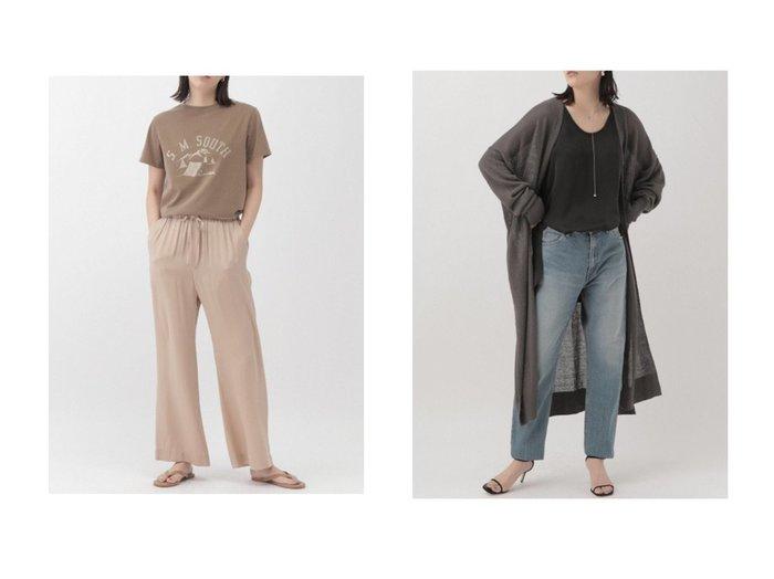 【Chaos/カオス】の【REMI RELIEF】SMSOUTH プリントTシャツ&リーチリネンニットロングカーディガン 【トップス・カットソー】おすすめ!人気、トレンド・レディースファッションの通販 おすすめファッション通販アイテム レディースファッション・服の通販 founy(ファニー) ファッション Fashion レディースファッション WOMEN トップス・カットソー Tops/Tshirt シャツ/ブラウス Shirts/Blouses ロング / Tシャツ T-Shirts カットソー Cut and Sewn ニット Knit Tops カーディガン Cardigans ショート スリーブ プリント ヴィンテージ S/S・春夏 SS・Spring/Summer インナー カーディガン シンプル スリット フレンチ リネン 春 Spring |ID:crp329100000030233
