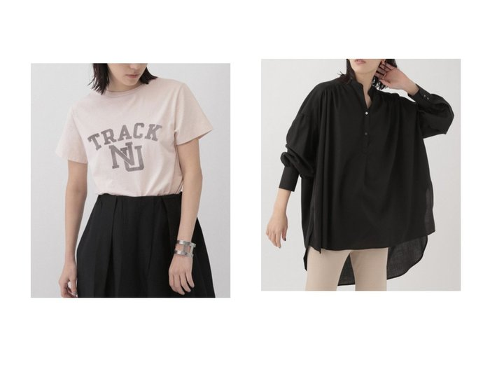 【Chaos/カオス】のキュプラツイルギャザーブラウス&【REMI RELIEF】TRACK プリントTシャツ 【トップス・カットソー】おすすめ!人気、トレンド・レディースファッションの通販 おすすめファッション通販アイテム インテリア・キッズ・メンズ・レディースファッション・服の通販 founy(ファニー) https://founy.com/ ファッション Fashion レディースファッション WOMEN トップス・カットソー Tops/Tshirt シャツ/ブラウス Shirts/Blouses ロング / Tシャツ T-Shirts カットソー Cut and Sewn おすすめ Recommend なめらか ウォッシャブル キュプラ ギャザー スリーブ タイトスカート ツイル ロング ワーク ショート プリント ヴィンテージ |ID:crp329100000030238