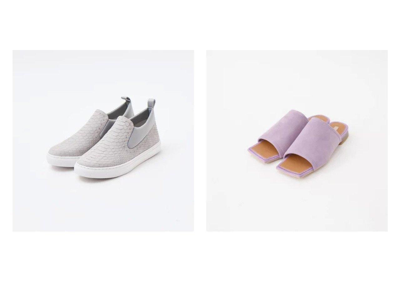 【Au BANNISTER/オゥ バニスター】のミドルカットスリッポンスニーカー&スクエアトゥ フラットミュール 【シューズ・靴】おすすめ!人気、トレンド・レディースファッションの通販 おすすめで人気の流行・トレンド、ファッションの通販商品 メンズファッション・キッズファッション・インテリア・家具・レディースファッション・服の通販 founy(ファニー) https://founy.com/ ファッション Fashion レディースファッション WOMEN サンダル シューズ ミュール S/S・春夏 SS・Spring/Summer スリッポン パイソン フラット ミドル 春 Spring  ID:crp329100000030401