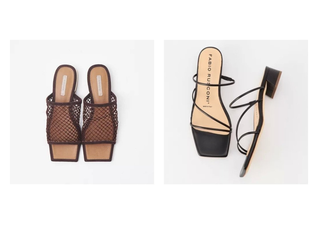 【Au BANNISTER/オゥ バニスター】のスクエアフラットミュール(メッシュ)&【NOLLEY'S/ノーリーズ】の【 ファビオルスコーニ】スキニーラインサンダル 【シューズ・靴】おすすめ!人気、トレンド・レディースファッションの通販 おすすめで人気の流行・トレンド、ファッションの通販商品 メンズファッション・キッズファッション・インテリア・家具・レディースファッション・服の通販 founy(ファニー) https://founy.com/ ファッション Fashion レディースファッション WOMEN イタリア サンダル シューズ スクエア フォルム ボトム ラップ S/S・春夏 SS・Spring/Summer トレンド メッシュ 春 Spring  ID:crp329100000030407