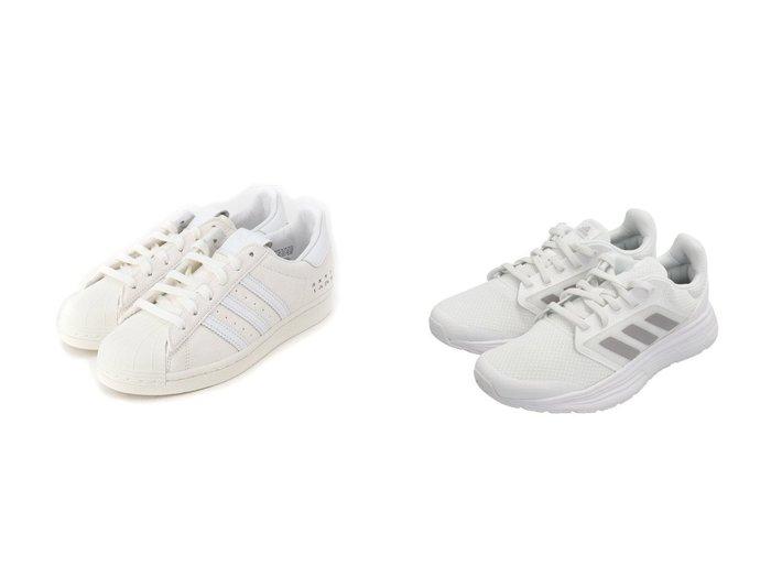 【adidas Sports Performance/アディダス スポーツ パフォーマンス】のギャラクシー 5 Galaxy 5 アディダス&【adidas Originals/アディダス オリジナルス】のスーパースター SUPERSTAR アディダスオリジナルス 【シューズ・靴】おすすめ!人気、トレンド・レディースファッションの通販 おすすめ人気トレンドファッション通販アイテム 人気、トレンドファッション・服の通販 founy(ファニー) ファッション Fashion レディースファッション WOMEN クッション シューズ スニーカー スリッポン フィット ランニング レギュラー 軽量 スエード スタイリッシュ ストライプ プレミアム リュクス |ID:crp329100000030411