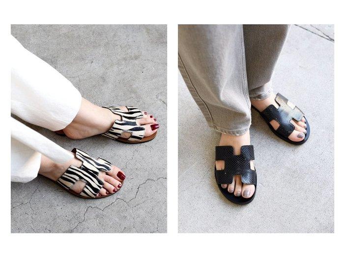 【SHIPS/シップス フォー ウィメン】のTABITA ゼブラ/ソリッドサンダル 【シューズ・靴】おすすめ!人気、トレンド・レディースファッションの通販 おすすめファッション通販アイテム インテリア・キッズ・メンズ・レディースファッション・服の通販 founy(ファニー) https://founy.com/ ファッション Fashion レディースファッション WOMEN カッティング サンダル シューズ シンプル フラット ミュール |ID:crp329100000030416