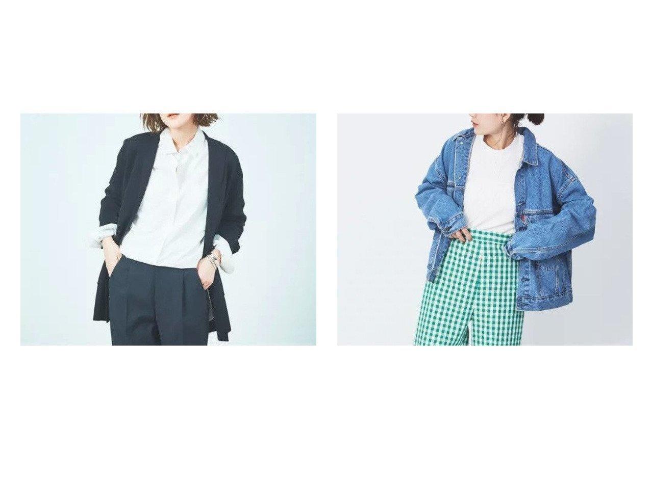 【Rouge vif/ルージュ ヴィフ】の【LEVI S】STAY LOOSE TRUCKER:デニムジャケット&ニットテーラードジャケット 【アウター】おすすめ!人気、トレンド・レディースファッションの通販 おすすめで人気の流行・トレンド、ファッションの通販商品 メンズファッション・キッズファッション・インテリア・家具・レディースファッション・服の通販 founy(ファニー) https://founy.com/ ファッション Fashion レディースファッション WOMEN アウター Coat Outerwear ジャケット Jackets デニムジャケット Denim Jackets テーラードジャケット Tailored Jackets ジャケット ジーンズ デニム ワーク 定番 Standard おすすめ Recommend インナー カーディガン スマート テーラード ボックス マニッシュ |ID:crp329100000030473