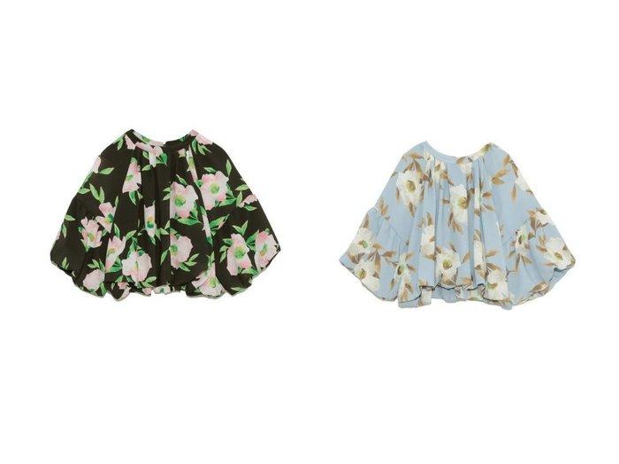 【Lily Brown/リリーブラウン】のフローラルバルーントップス 【トップス・カットソー】おすすめ!人気、トレンド・レディースファッションの通販 おすすめファッション通販アイテム レディースファッション・服の通販 founy(ファニー) ファッション Fashion レディースファッション WOMEN トップス・カットソー Tops/Tshirt シャツ/ブラウス Shirts/Blouses S/S・春夏 SS・Spring/Summer オリエンタル シフォン シンプル セットアップ バルーン 春 Spring |ID:crp329100000030539