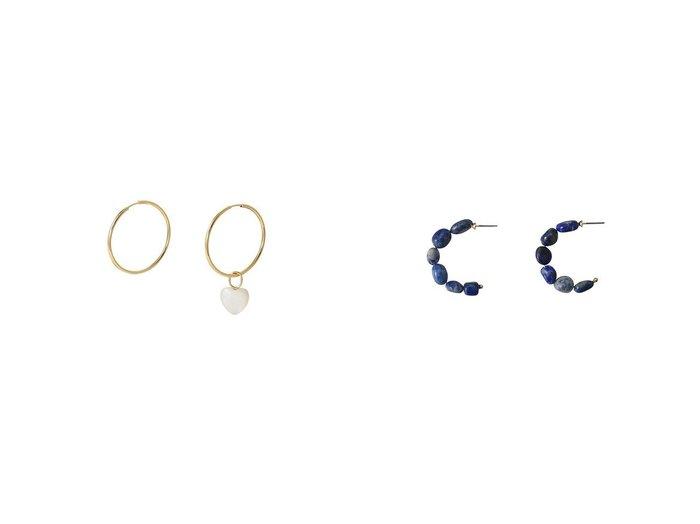 【MARIA BLACK/マリア ブラック】のMother Heart Charm フープピアス&【ADER bijoux/アデル ビジュー】のLA TERRE ストーンフープピアス 【アクセサリー・ジュエリー】おすすめ!人気、トレンド・レディースファッションの通販 おすすめファッション通販アイテム レディースファッション・服の通販 founy(ファニー) ファッション Fashion レディースファッション WOMEN おすすめ Recommend シンプル セットアップ チャーム ネックレス フェミニン フープ |ID:crp329100000030671