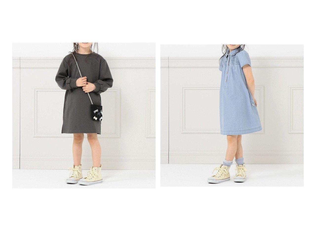 【KUMIKYOKU / KIDS/組曲】の【WEB限定/110-140cm】デニムワンピース&【WEB限定/100-140cm】ポシェット付き ワンピース 【KIDS】子供服のおすすめ!人気トレンド・キッズファッションの通販 おすすめで人気の流行・トレンド、ファッションの通販商品 メンズファッション・キッズファッション・インテリア・家具・レディースファッション・服の通販 founy(ファニー) https://founy.com/ ファッション Fashion キッズファッション KIDS ワンピース Dress/Kids 送料無料 Free Shipping ドレス ポシェット シャーリング デニム |ID:crp329100000030735