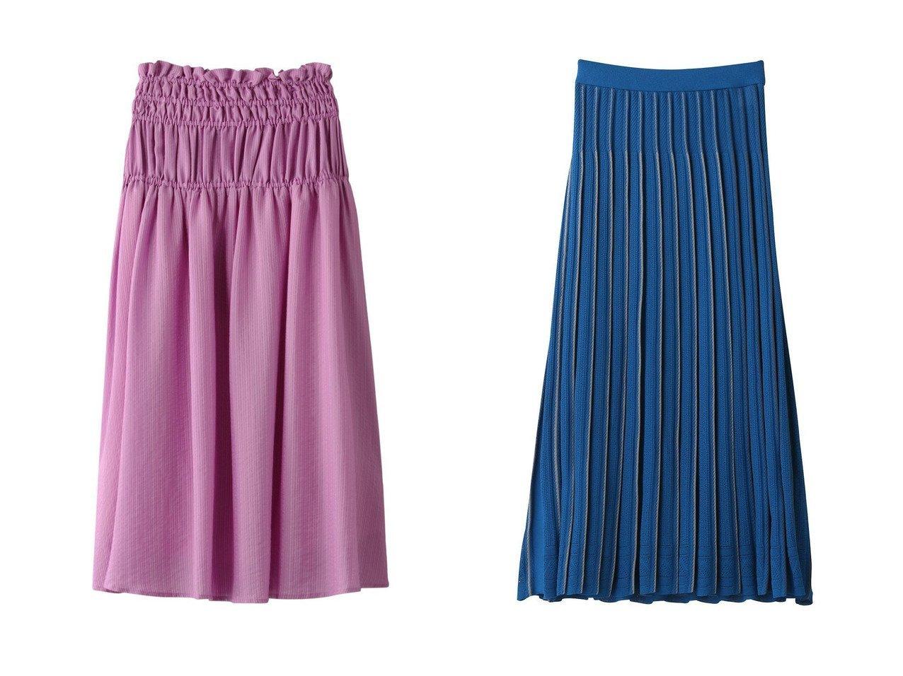 【Ezick/エジック】のストライプギャザースカート&【WRAPINKNOT/ラッピンノット】のニットプリーツフレアスカート 【スカート】おすすめ!人気トレンド・レディースファッションの通販  おすすめで人気の流行・トレンド、ファッションの通販商品 メンズファッション・キッズファッション・インテリア・家具・レディースファッション・服の通販 founy(ファニー) https://founy.com/ ファッション Fashion レディースファッション WOMEN スカート Skirt Aライン/フレアスカート Flared A-Line Skirts ロングスカート Long Skirt S/S・春夏 SS・Spring/Summer ストライプ ロング 春 Spring ギャザー シャーリング スニーカー フェミニン 今季  ID:crp329100000030904
