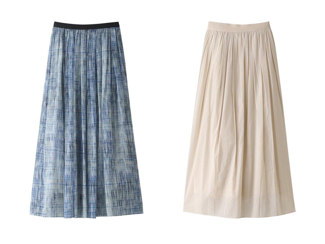 【1er Arrondissement/プルミエ アロンディスモン】のチェックフレアスカート&ギャザーロングスカート 【スカート】おすすめ!人気トレンド・レディースファッションの通販  おすすめで人気の流行・トレンド、ファッションの通販商品 メンズファッション・キッズファッション・インテリア・家具・レディースファッション・服の通販 founy(ファニー) https://founy.com/ ファッション Fashion レディースファッション WOMEN スカート Skirt ロングスカート Long Skirt Aライン/フレアスカート Flared A-Line Skirts S/S・春夏 SS・Spring/Summer おすすめ Recommend エアリー シアー シンプル セットアップ ロング 春 Spring  ID:crp329100000030905