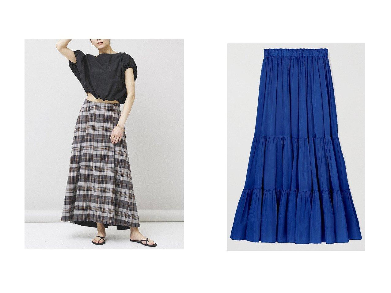 【ANAYI/アナイ】のライトローンティアード スカート&【Curensology/カレンソロジー】のチェックフレアスカート 【スカート】おすすめ!人気トレンド・レディースファッションの通販  おすすめで人気の流行・トレンド、ファッションの通販商品 メンズファッション・キッズファッション・インテリア・家具・レディースファッション・服の通販 founy(ファニー) https://founy.com/ ファッション Fashion レディースファッション WOMEN スカート Skirt Aライン/フレアスカート Flared A-Line Skirts ロングスカート Long Skirt ティアードスカート Tiered Skirts S/S・春夏 SS・Spring/Summer タイプライター チェック フレア ヘムライン ロング 春 Spring ギャザー ティアードスカート プリーツ ミックス  ID:crp329100000030907
