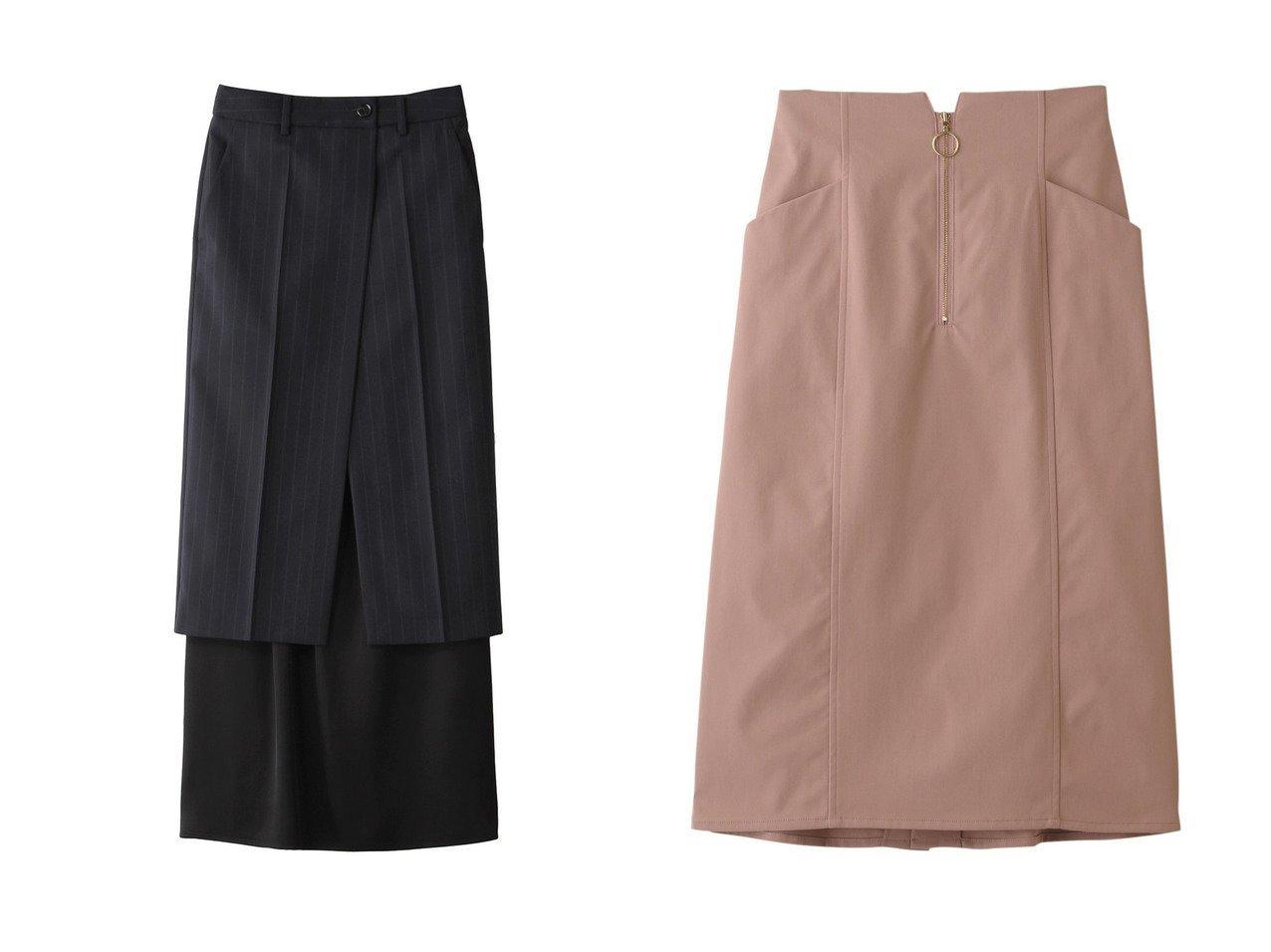 【31 Sons de mode/トランテアン ソン ドゥ モード】のフロントファスナータイトスカート&【MM6 Maison Martin Margiela/エムエム6 メゾン マルタン マルジェラ】のウール混ピンストライプスカート 【スカート】おすすめ!人気トレンド・レディースファッションの通販  おすすめで人気の流行・トレンド、ファッションの通販商品 メンズファッション・キッズファッション・インテリア・家具・レディースファッション・服の通販 founy(ファニー) https://founy.com/ ファッション Fashion レディースファッション WOMEN スカート Skirt ロングスカート Long Skirt スニーカー タイトスカート フォルム フロント 再入荷 Restock/Back in Stock/Re Arrival 春 Spring クール スタイリッシュ ストライプ スーツ ロング  ID:crp329100000030908