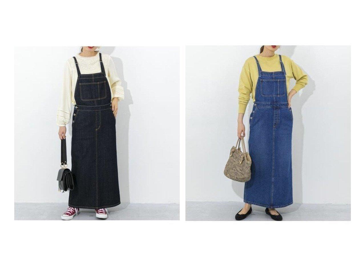 【Sonny Label / URBAN RESEARCH/サニーレーベル】のデニムロングジャンパースカート 【スカート】おすすめ!人気トレンド・レディースファッションの通販  おすすめで人気の流行・トレンド、ファッションの通販商品 メンズファッション・キッズファッション・インテリア・家具・レディースファッション・服の通販 founy(ファニー) https://founy.com/ ファッション Fashion レディースファッション WOMEN スカート Skirt ポケット  ID:crp329100000030914