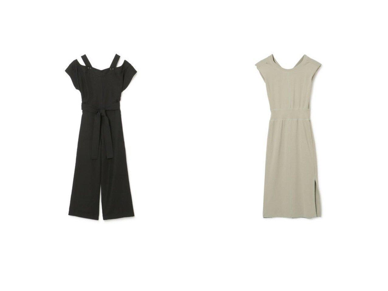 【QUWAGI/クワギ】のJUMPSUIT&SHOULDER DRESS 【ワンピース・ドレス】おすすめ!人気、トレンド・レディースファッションの通販 おすすめで人気の流行・トレンド、ファッションの通販商品 メンズファッション・キッズファッション・インテリア・家具・レディースファッション・服の通販 founy(ファニー) https://founy.com/ ファッション Fashion レディースファッション WOMEN ワンピース Dress ドレス Party Dresses オールインワン ワンピース All In One Dress サロペット Salopette 2021年 2021 2021春夏・S/S SS/Spring/Summer/2021 S/S・春夏 SS・Spring/Summer スリット スリム ドレス ノースリーブ フェミニン フォーマル ロング 洗える カッティング コンパクト ストレート デコルテ ボトム |ID:crp329100000031144